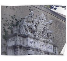 Entrance to the Vatican, Depicting Michelangelo and Raphael  Poster