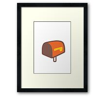 Open Mailbox With Lowered Flag Google Hangouts / Android Emoji Framed Print