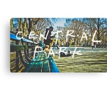 Central Park Typography Print Canvas Print