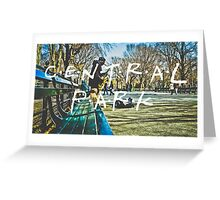Central Park Typography Print Greeting Card