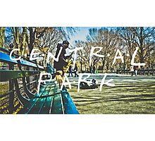 Central Park Typography Print Photographic Print