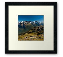 scenic view over fiordland Framed Print