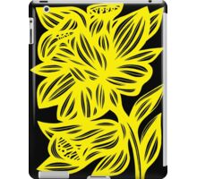 Holak Daffodil Flowers Yellow Black iPad Case/Skin