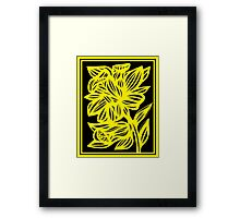Holak Daffodil Flowers Yellow Black Framed Print