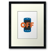 Mobile Phone Off Google Hangouts / Android Emoji Framed Print