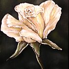 """""""White Rose"""" - Oil Painting by Avril Brand"""