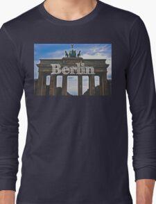 Berlin Wall Typography Print Long Sleeve T-Shirt