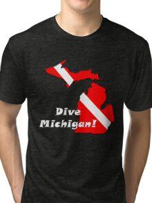 Dive Michigan 2 Tri-blend T-Shirt