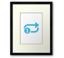 Clockwise Rightwards And Leftwards Open Circle Arrows With Circled One Overlay Google Hangouts / Android Emoji Framed Print
