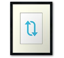 Clockwise Downwards And Upwards Open Circle Arrows Google Hangouts / Android Emoji Framed Print