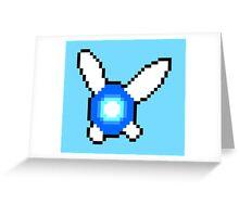 Pixelated Navi (Legend of Zelda) Greeting Card