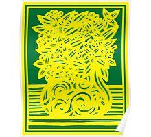 Kingham Flowers Yellow Green Poster