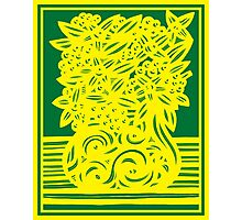 Kingham Flowers Yellow Green Photographic Print
