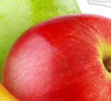 Banana, apple and pear Sticker