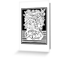 Mbamalu Flowers Black and White Greeting Card