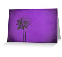 Nothing Less Than Elegance in Purple Flower Greeting Card