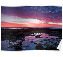 Sunset at Ricketts point Poster