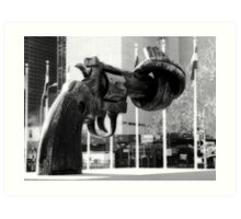 Knotted Revolver Art Print