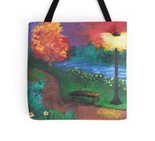 Park Bench in Evening Tote Bag