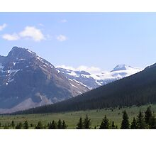 Grasslands and Glaciers Photographic Print