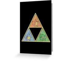 Pokemon Triforce Greeting Card