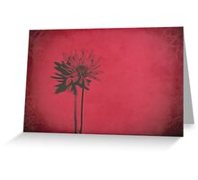 Nothing Less Than Elegance in Red Greeting Card