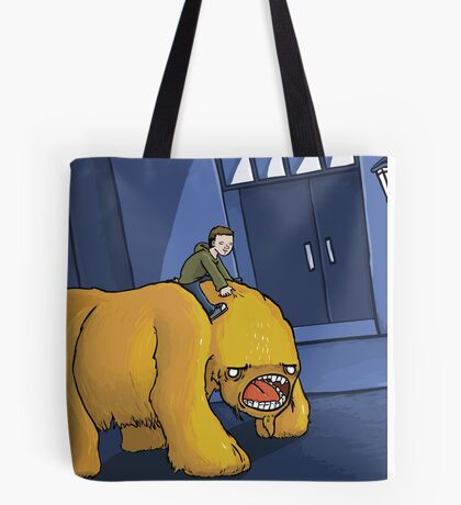 A Boy and His Monster Tote Bag