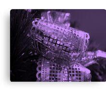 Purple Bow Canvas Print