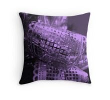 Purple Bow Throw Pillow