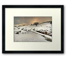 Winter Scene near Ingleton Framed Print