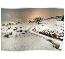 Winter Scene near Ingleton Poster