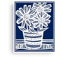 Perrett Flowers Blue White Canvas Print
