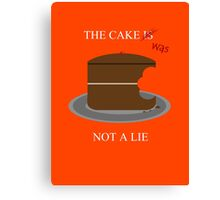 The cake is/was not a lie (White letters) Canvas Print