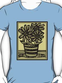 Giacomo Flowers Yellow Black T-Shirt