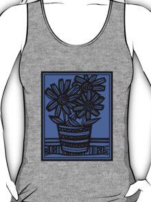 Novara Flowers Blue Black T-Shirt