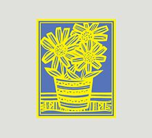 Chinnis Flowers Yellow Blue Womens Fitted T-Shirt