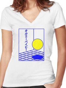 """JAPANESE """"BABY KILL ME"""" DESIGN Women's Fitted V-Neck T-Shirt"""