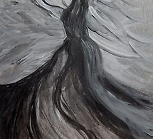 Black and White Angle, Abstract Acrylic Painting  by ShiningEyeArts