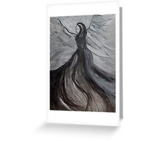 Black and White Angle, Abstract Acrylic Painting  Greeting Card