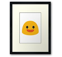 Smiling Face With Open Mouth Google Hangouts / Android Emoji Framed Print