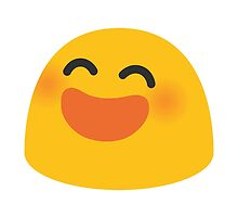 Smiling Face With Open Mouth And Smiling Eyes Google Hangouts / Android Emoji by emoji