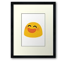 Smiling Face With Open Mouth And Smiling Eyes Google Hangouts / Android Emoji Framed Print
