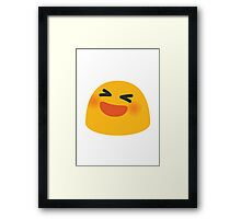 Smiling Face With Open Mouth And Tightly-Closed Eyes Google Hangouts / Android Emoji Framed Print