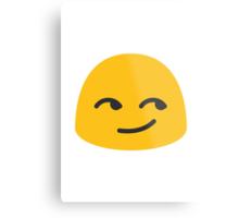 Smirking Face Google Hangouts / Android Emoji Metal Print