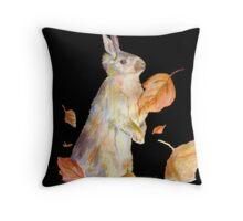 Autumn Rabbit Throw Pillow