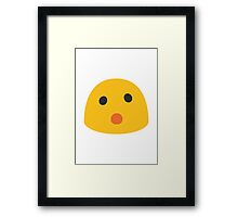 Face With Open Mouth Google Hangouts / Android Emoji Framed Print