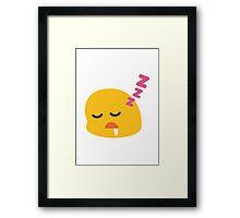 Sleeping Face Google Hangouts / Android Emoji Framed Print
