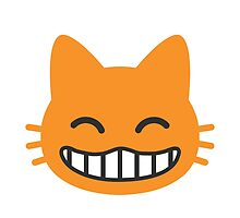 Grinning Cat Face With Smiling Eyes Google Hangouts / Android Emoji by emoji