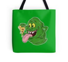 Slimer eating pizza Tote Bag