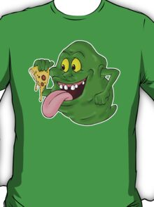 Slimer eating pizza T-Shirt